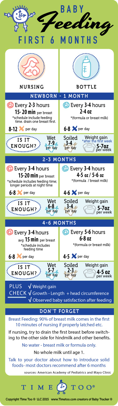Baby Feeding Schedule And Chart  Newborn To Six Months  Baby