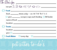 Printable Pet Sitter Template Image